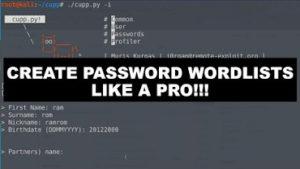 Create Password wordlists like a pro!