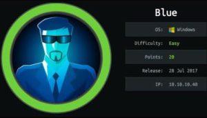 Hackthebox's Blue walkthrough - Exploiting Eternal blue vulnerability