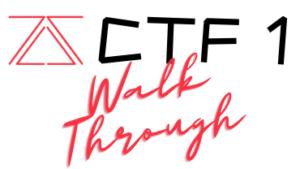 ZS CTF 1 Official Walkthrough